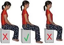 בעיות בעמוד שדרה- ישיבה נכונה לעומת ישיבה לא תקינה